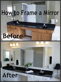 How to Frame a Mirror, what a great idea!!!!