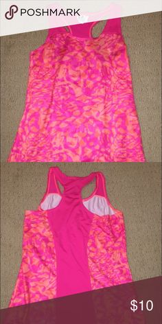 a new under armor muscle tank pink/orange under armor youth large muscle tank Under Armour Tops Muscle Tees
