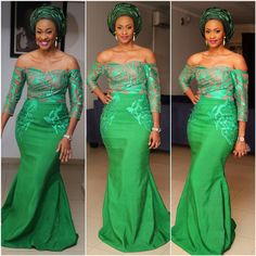 "Nigerian Wedding Presents ""Rise Of The Monotone Aso-ebi""- Check Out 60+ Latest Monotone Aso-ebi Styles & Classy Fabrics To Inspire You This 2015 