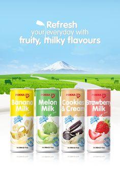 Milk Drink on Behance - Milch Yogurt Packaging, Kids Packaging, Juice Packaging, Food Packaging Design, Beverage Packaging, Packaging Design Inspiration, Food Graphic Design, Food Poster Design, Food Design