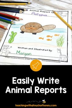 Ready to create animal research projects with your grade one, grade two, and grade three students? Support your students through each stage of the report writing process as they write their animal reports. Informative writing can be a challenge for kids. Make it is easy with these differentiated templates. BUY NOW! Teach W.1.2, W.1.5, W.2.2, W.2.5, W.3.2, and W.3.5 with animal reports. Writing Lesson Plans, Writing Lessons, Writing Process, Writing Resources, Writing Skills, Writing Activities, Writing Ideas, Informative Writing, Informational Writing