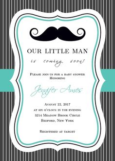 You cant go wrong with the classic mustache! Gather your friends and family to celebrate your little gentleman! Customize the font and colors to make it truly one of a kind!</p>