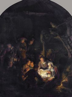 Rembrandt: Adoration of the Shepherds (1646)