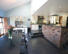 Split level living room   Spaces  House and Split level kitchen. Kitchen Lounge Designs. Home Design Ideas
