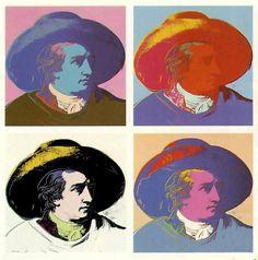 Andy Warhol. Goethe. 1982.