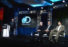 "Aubrey St. Angelo Photos Photos - (L-R) Group President, Discovery Channel, Animal Planet & Science Channel, Rich Ross, Executive producer Barry Levinson, Iberville Parish Detective (Ret), Rodie Sanchez and Iberville Parish Detective, Detective Aubrey St. Angelo of ""Killing Fields"" speak onstage during the Discovery Communications TCA Winter 2016 at The Langham Huntington Hotel and Spa on January 7, 2016 in Pasadena, California. - Discovery Communications TCA Winter 2016"