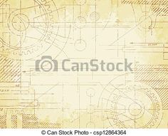 Vector - Old Technical Drawing - stock illustration, royalty free illustrations, stock clip art icon, stock clipart icons, logo, line art, EPS picture, pictures, graphic, graphics, drawing, drawings, vector image, artwork, EPS vector art