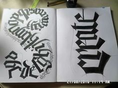 Jannyboy Paper Crafts and Calligraphy.  Black Letter practice.