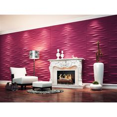 Dundee Decor Falkirk Fifer Abstract Dune 3D Wall Panel - 2.6-ft x 2.1-ft - Off-White - 10-Pack | Lowe's Canada