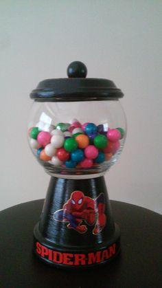 Visit my etsy shop and purchase your very own custom made Spider-Man gumball machine!!!etsy.com/shop/SugaboosCreations