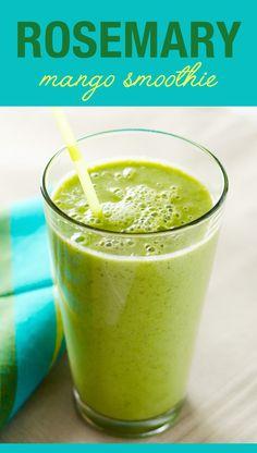 Rosemary Mango Smoothie - a delicious vegan and dairy free recipe | VeggiePrimer.com