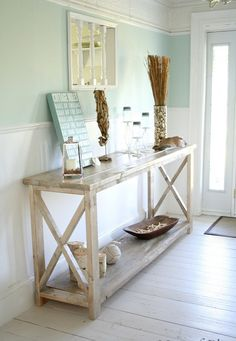 Hey, I found this really awesome Etsy listing at https://www.etsy.com/listing/239037243/white-console-table-wood-rustic