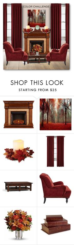 """""""Color Challenge: Pumpkin and Burgundy"""" by bliznec ❤ liked on Polyvore featuring interior, interiors, interior design, home, home decor, interior decorating, Order Home Collection, Royal Velvet, Pottery Barn and Pier 1 Imports"""