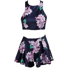 Romwe Criss Cross Back Floral Top With Shorts (44 CAD) ❤ liked on Polyvore featuring tops, romwe, multicolor, floral sleeveless top, blue top, sleeveless tops, blue floral top and floral print top