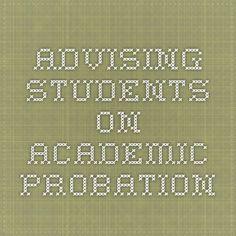 Advising Students on Academic Probation