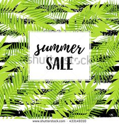 Summer sale calligraphic poster, web banner with tropical leaves tree leaves seamless pattern on ZigZag striped geometric texture. Summer party graphic design. Vector summer illustration. #natakuprovadesign #shutterstock #creativity #watercolor #pattern #wallpaper #print #abstract  #decoration  #shopping #sale #print #summer #nature #eco #organic #bio #product #vegan #food #natural #farming #vegeterian #label  #background #handdrawn  #design