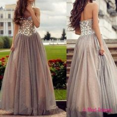 Tulle Prom Dresses,Prom Dress,Modest Prom Gown,Ball Gown Prom Gowns,Beading Evening Dress,Strapless Evening Gowns,Sparkly Party Gowns,Crystals Prom Gown PD20184959