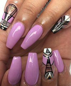 Purple nails design nailart @nailsbydalenaa