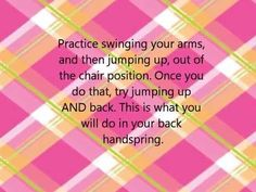How to do a back handspring - without a spotter! - YouTube
