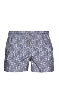 In love with the unexpected print of these trunks!