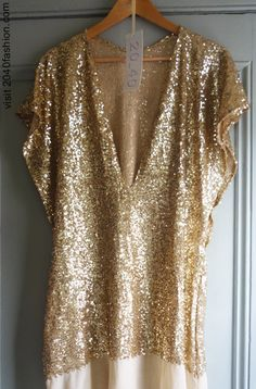 Gold sequined kaftan...