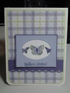 Stampin'Up: Kindness Matters, Oval EF, lrg Oval Punch. Misc. Papers.