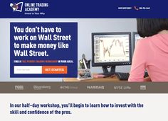 Online Trading Academy Landing Page Example
