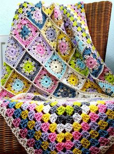 Check out this item in my Etsy shop https://www.etsy.com/uk/listing/491540604/retro-pastel-granny-squares-blanket