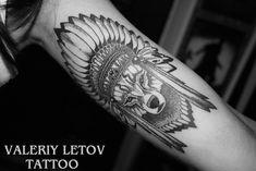 wolf tattoo by ValeriyLetov