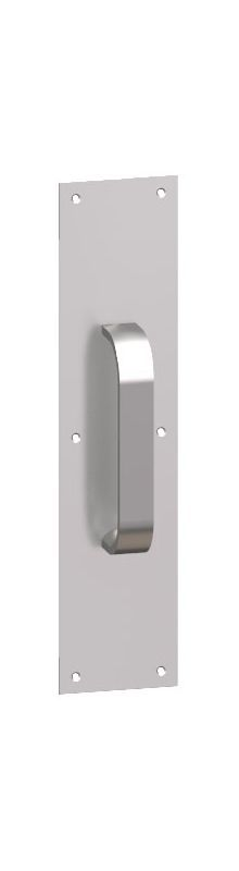 """Hager 101J-4x16 4"""" x 16"""" Rounded Bevel Square Corner 0.125"""" Gauge Pull Plate wit Oil Rubbed Bronze Door Plate Pull Plate"""