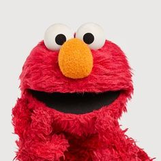 """""""Elmo is pretending to be a grouch today! If You Love Someone, Love You All, Monster Room, Sesame Street Muppets, Birthday Shout Out, Big Bird, Little Monsters, Color Theory, Billie Eilish"""
