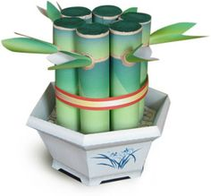 Make a paper bamboo plant