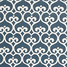 Fabric for the Loveseat slipcovers: Navy Spade from Serena & Lily.
