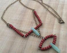 Lange  Kupfer Jade Halskette BohoVintage von FKBMartandaccessory