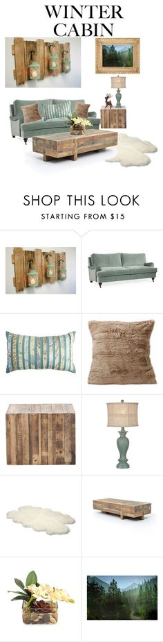 """""""Cozy Cabin"""" by shanon-weedman ❤ liked on Polyvore featuring interior, interiors, interior design, home, home decor, interior decorating, Pier 1 Imports, UGG Australia, John-Richard and cabinstyle"""