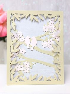 Dawn Woleslagle for Wplus9 featuring Birds & Branches  Frame die. Available exclusively at wplus9.com!