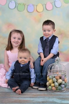 """Children's photography, Easter portraits. """"LIKE"""" us on Facebook: www.facebook.com/costaphotography1 or Visit our website: www.costa-photography.com"""