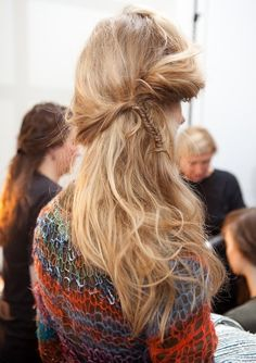 Long hair, braids love this look!