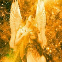 De engel van het goud gele licht werkt via het zonnevlechtchakra. Helpt je om emoties om te zetten in liefde en kracht.... Engelen om je heen.
