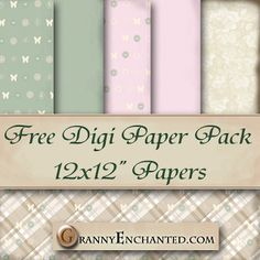 GRANNY ENCHANTED'S BLOG: Free Butterfly Sage Digital Scrapbook Paper Pack