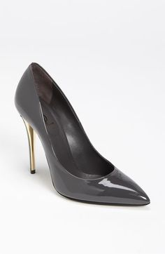 Yes!  Neutral love...Yves Saint Laurent Metal Heel Pump available at #Nordstrom