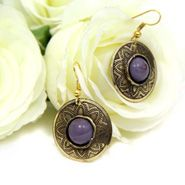 Purple Ethnic Earrings For Daughters