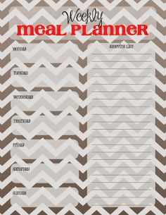 Weekly Meal Planner Sheets - Free Printable from Doodles and Stitches.