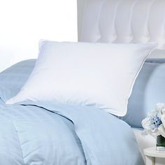 Bed Pillows for my Dream Bedroom! Concierge Collection 300 Thread Count White Goose Down and Feather Pillow - Standard at HSN.com. #HSN #HouseBeautiful