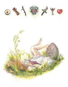 Lovely Game Illustrations - Zelda | GamesNEXT #Nintendo The Legend of Zelda