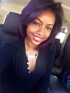 Purple hair. Black girls.