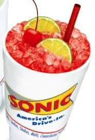 Sonic Cherry Limeaide recipe: 12 oz (or 1 can) Sprite, 3 lime wedges, 1/4 cup cherry juice (Libbys Juicy Juice is best). Fill a 16 oz glass with 2/3 ice. Pour Sprite over ice. Add 3 lime wedges. Add cherry juice serve with straw. Makes a 16 oz drink. From Top Secret Recipes