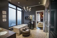 HGTV.com shares images from the luxurious master bathroom featured in HGTV's Urban Oasis 2014.