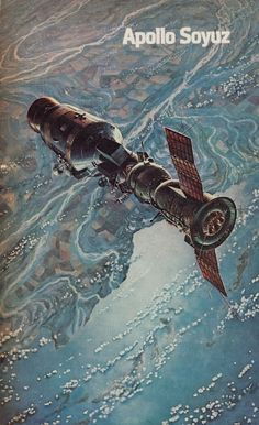 Apollo-Soyuz press kit illustration Twenty Awesome Covers From The US Space Program