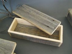 Rustic Yet Refined    Handsome and multi-functional, this style of boxes is handcrafted by us from locally reclaimed barnwood. Making use of